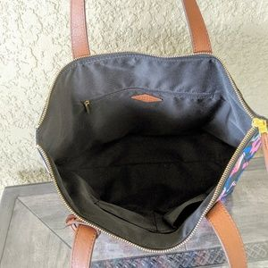 Fossil Bags - FOSSIL Fiona Tote Bag Black Multicolor Floral
